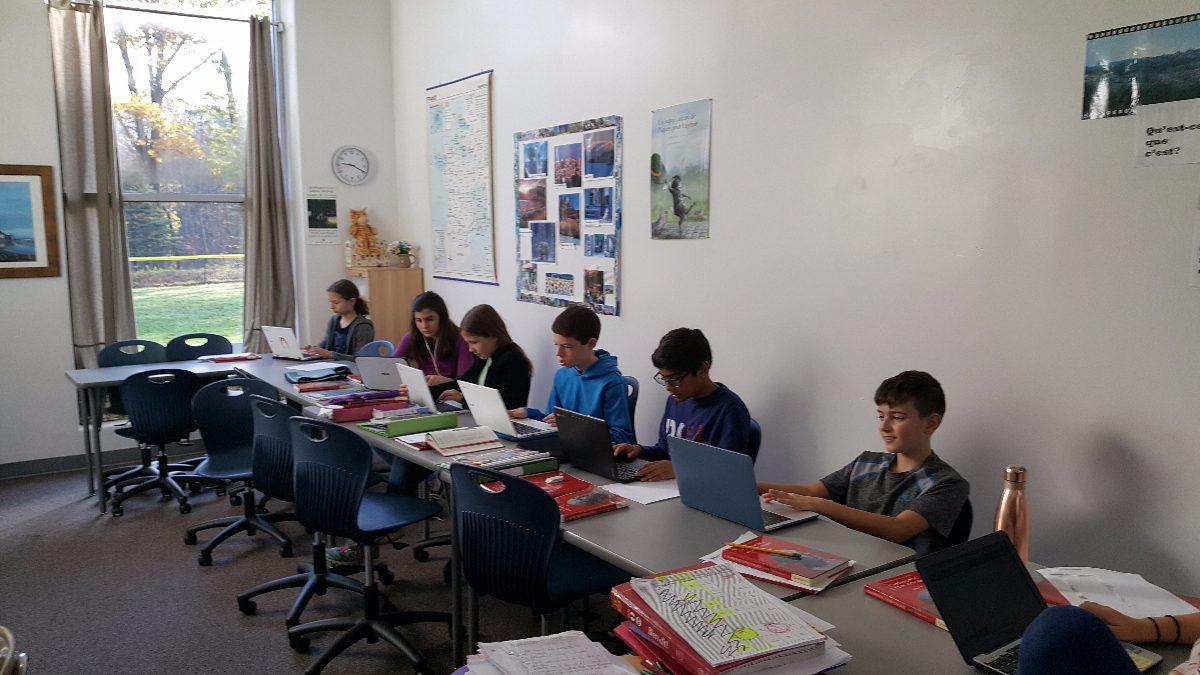 Fraser Woods Montessori School   6th year Latin class.